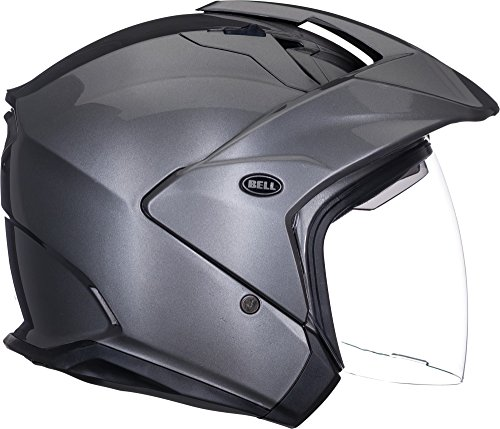 Bell Unisex Large 7000744 Solid Titanium MAG-9 Open-Face, D.O.T-Certified Street Helmet-Adult Size L Gloss, Large