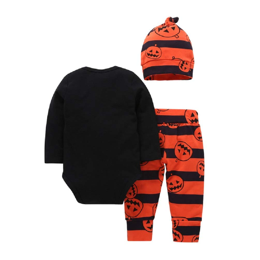 3Pcs// Outfit Set Infant Cotton My First Halloween Rompers for Baby Boy Girl Newborn 0-18 Months