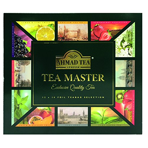 Ahmad Tea Master Variety Gift Box, 120 Foil Enveloped Teabag