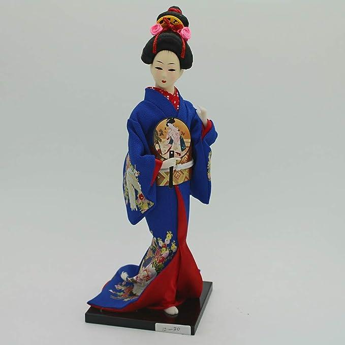 Amazon.com: Prettyia - Muñeca japonesa Kimono Geisha de 12 ...