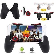 Fortnite PUBG Mobile Controller, Papakoyal PUBG Mobile Trigger Mobile Game Controller Sensitive Shoot And Aim Keys L1R1 Mobile Joystick for PUBG/Fornite/Knives Out... [4 Triggers+2 Gamepads+1 Joystick]
