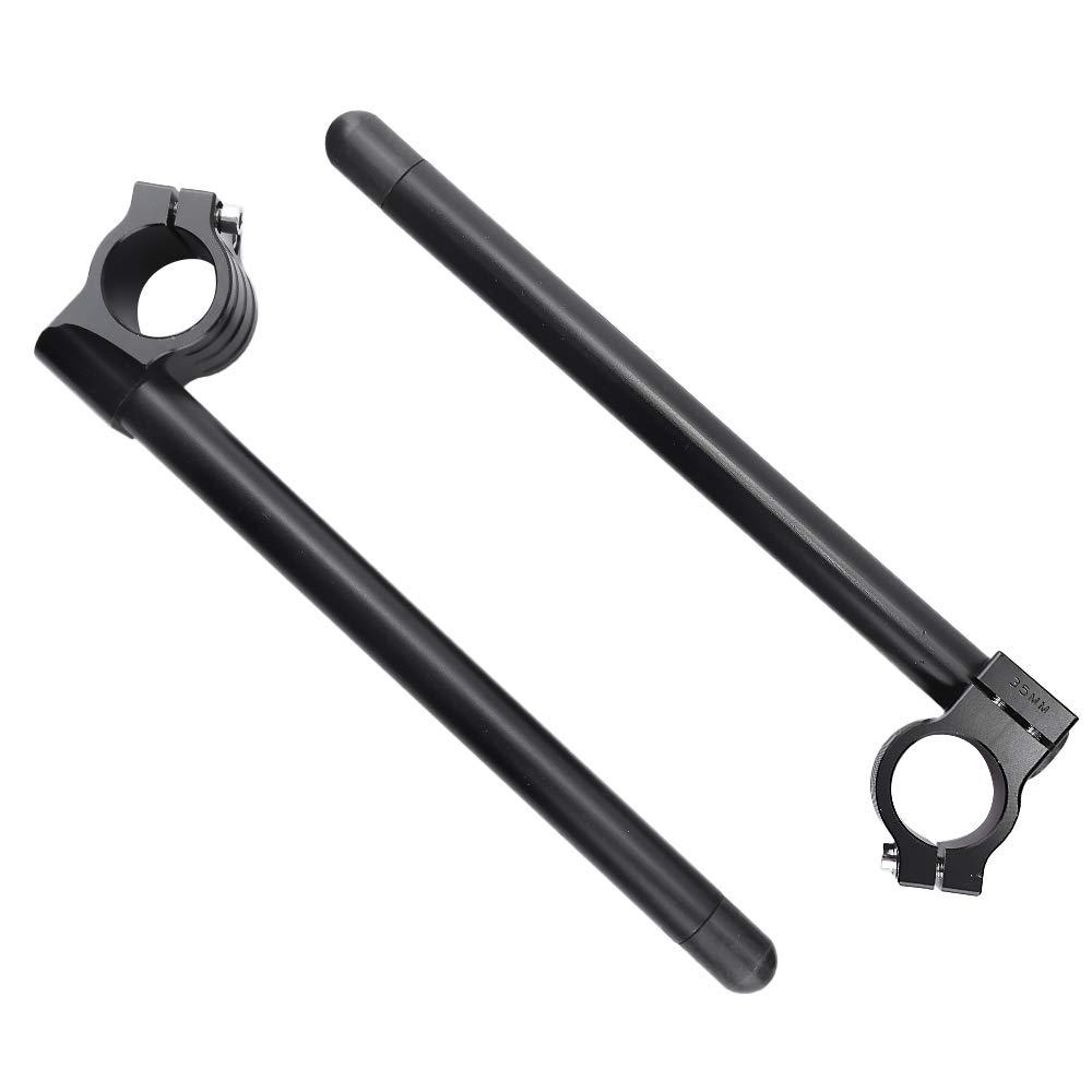 Fork Clip-ons Handle Bars CNC Riser for Honda Suzuki Yamaha 1969-1982 Motorcycle Handlebar Black 7//8