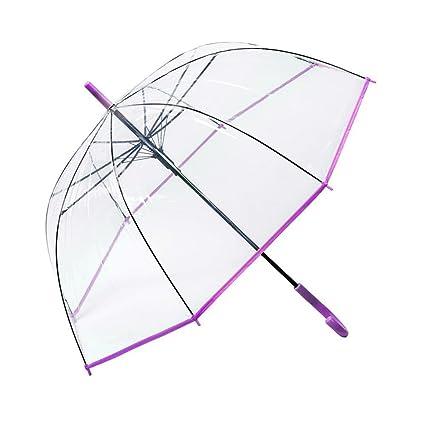 BiuTeFang Paraguas paraguas transparente Apolo paraguas de mango largo paraguas enganchado 84x93cm