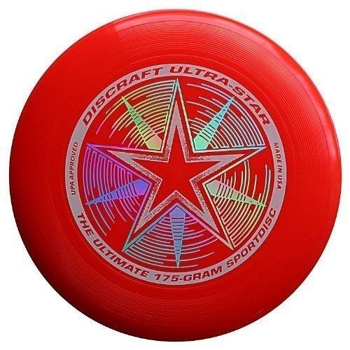 Discraft Ultra-Star Ultimate Frisbee 175 Gram Sportdiscs-Blue Sparkle
