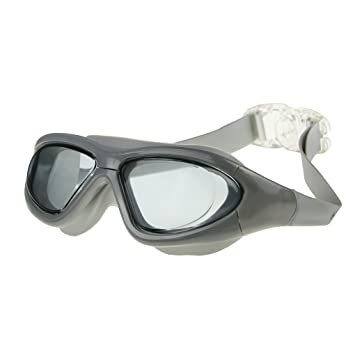7cb5d62153a Unisex Shatterproof Silicone No Leaking Waterproof Anti-fog UV Protection  Lens Triathlon Swim Dive Safety