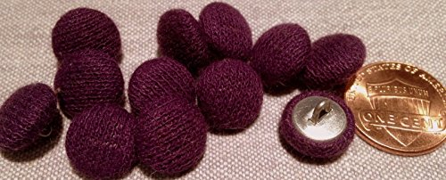 ShopForAllYou Buttons Craft Sewing 12 Knit Fabric Front Metal Back Shank Buttons Purple 11.7mm 7/16