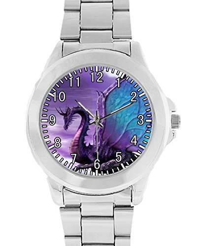 - Coolstuffs Purple Dragon Unisex Wrist Watch Analog Quartz Gift for Dog Lovers Animals Watch