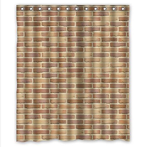Classic Brick Wall Patternstone And Rock Art Polyester Fabric Custom Home Decor Shower Curtain 60 Amazoncouk Kitchen