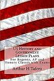 US History and Government Lesson Plans, Arthur Tafero, 148209830X