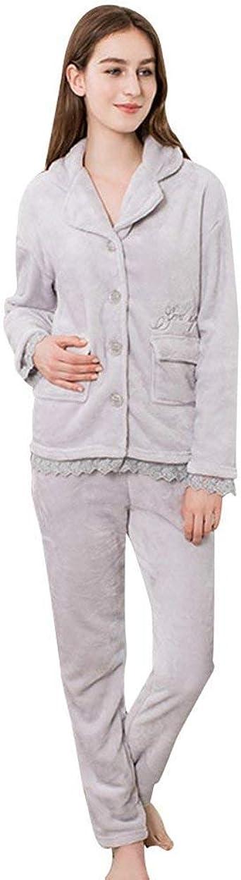 Mujer Pijamas Mujer Set Dos Piezas Manga Larga Termica ...