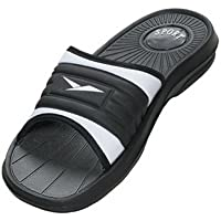 ICS Men's Rubber Slide Sandal Slipper Comfortable Shower Beach Shoe Slip On