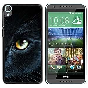 Be Good Phone Accessory // Dura Cáscara cubierta Protectora Caso Carcasa Funda de Protección para HTC Desire 820 // Bombay Eye Cat Fur Pet Mysterious