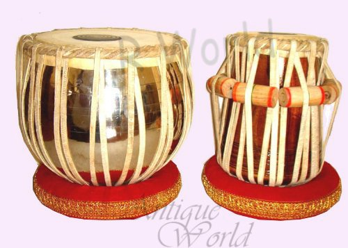 Antiques World Exclsive And Stylish Double Brass Sheesham Tabla Drums AWUSAMI 0145 by Antiques World
