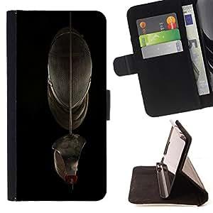 Dragon Case- Caja de la carpeta del caso en folio de cuero del tir¨®n de la cubierta protectora Shell FOR Sony Xperia Z1 M51W Z1 mini D5503- Fencing