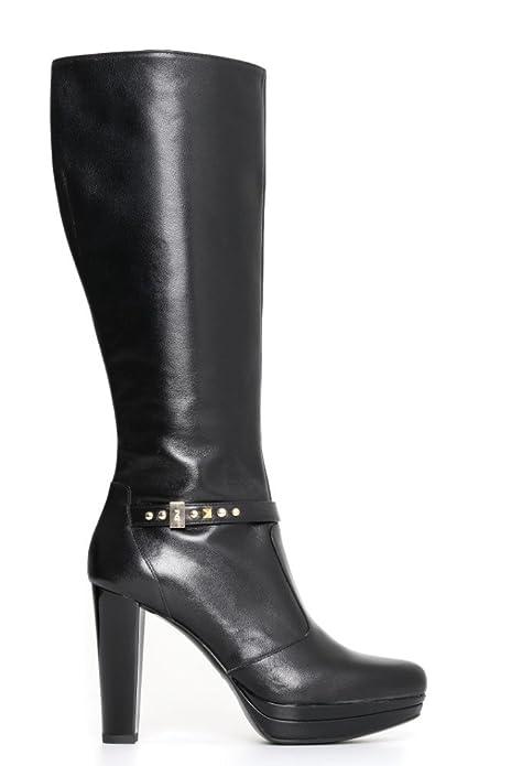 9d2cae0d9f Nero Giardini A719643DE 100 nero stivale donna con tacco alto nuova ...