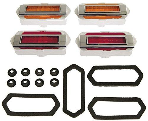 Side Marker Lens Assembly - Front & Rear 20 Piece Set (Lamps, Bezels, Gaskets, Hardware) - 69 Camaro