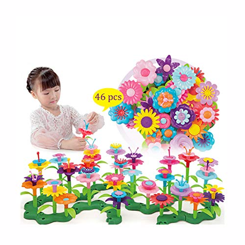 Building Block Toys Flower Interlocking kit Brain Flakes STEM Toys Creative and Educational Construction Toy - Best Gift for Girls