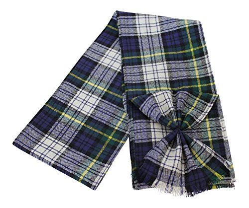 BBI Scottish 100% Wool Tartan Ladies Mini Sash with Rosette - Dress Gordon