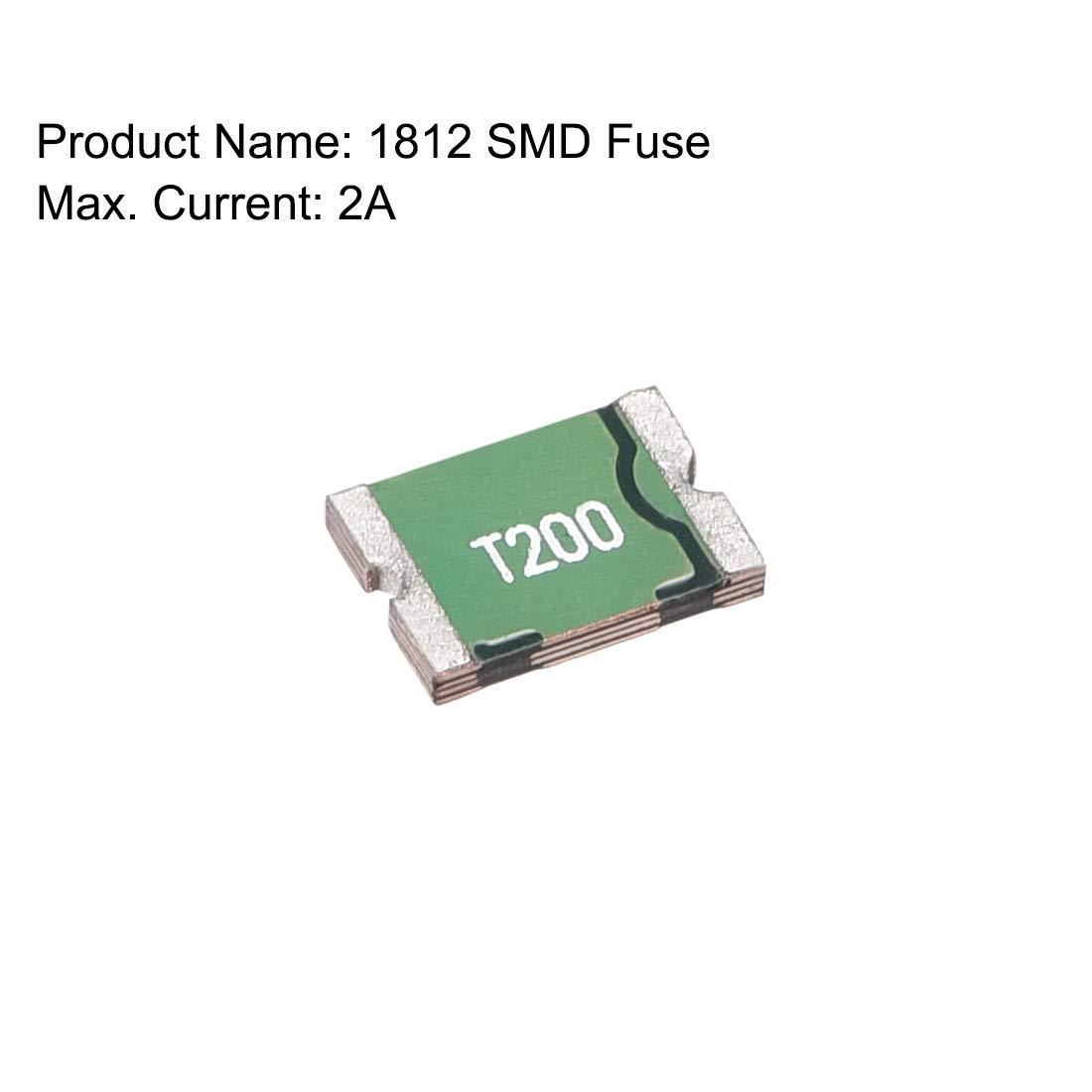 sourcing map Fusible Reiniciable SMD 1812 de Chip de montaje superficial de 16V 2A 50 unidades