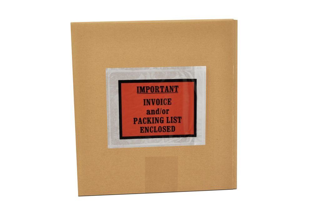 1000 Packing List/Invoice Enclosed Envelopes Full Face 4.5'' x 5.5'' - Overstock