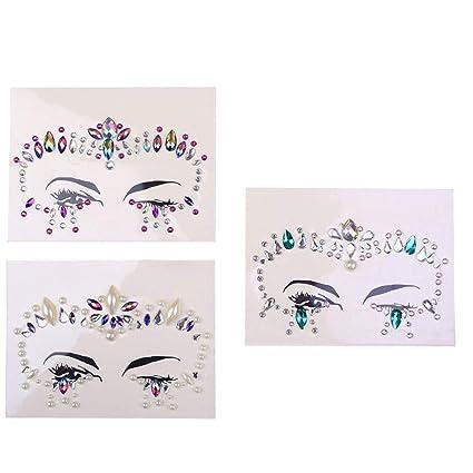 Facial Set Beautiful Resin Eye Sticker Adhesivo de frente ...