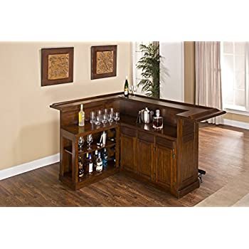 hillsdale furniture 64028xbche classic large bar with side bar molding detail and 12 bottle
