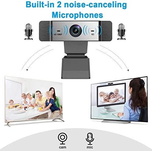 1080p Webcam with Microphone FHD Web Camera for Computers USB Video Streaming for PC Laptop Desktop Mac, No Delay Video Calling for Conference, Gaming, Online Classes 515vSXozyxL