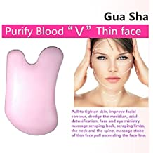 """Household """"day spas"""" Kits: GuaSha Scraping Tool, Ceramic Gua Sha Board, Magical Chinese Ancient Acupuncture Therapy Method-for Beauty Treats, Purify Blood, Brighten Skin Color, Super Smooth (Pink)"""