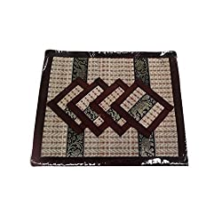 Mat Coaster From Wooven Sedge By Hand Made Natural Reed and Thai Silk
