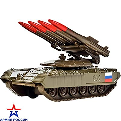 Diecast Model Metal Toy Soviet Russian Tank Anti-Aircraft Missile Complex: Toys & Games