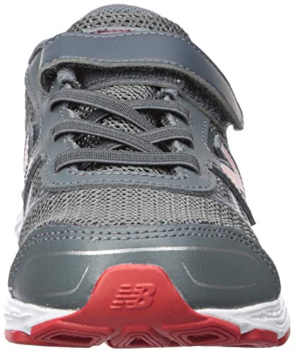 New Balance Boys' 680v5 Hook and Loop Running Shoe Lead/red 2 M US Infant by New Balance (Image #4)