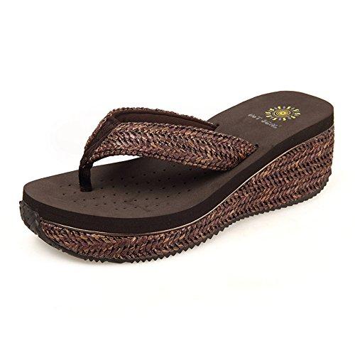 Zapatillas de Color UK3 Tamaño fondo de de grueso verano CN35 playa Sandalias 1 EU36 antideslizantes 1 mujer de Zapatos A7dvnqg