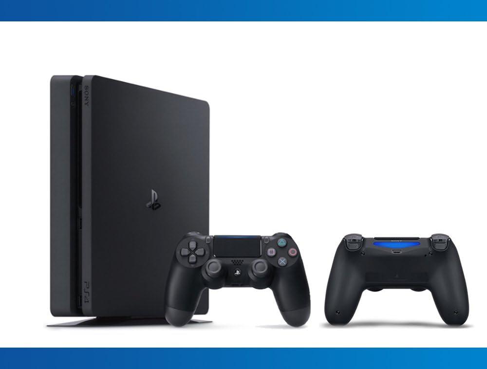 Amazon com: Playstation Slim 1TB Console + DualShock 4 Wireless