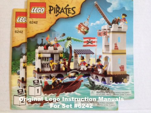 """INSTRUCTION MANUALS for Lego Pirates Set #6242 """"Soldiers' Fort"""""""