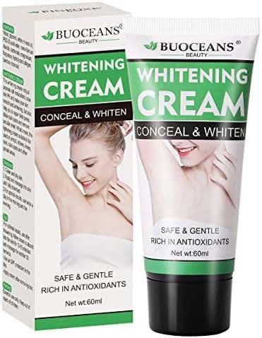 Underarm Whitening Cream, Lightening Cream Effective for Lightening & Brightening Armpit, Knees, Elbows, Sensitive & Private Areas, Whitens, Nourishes, Repairs & Restores Skin (60ml)