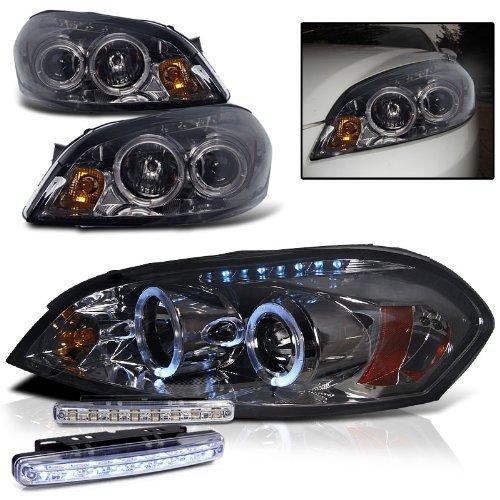 chevy impala headlight wiring image amazon com 2007 chevy impala dual halo headlights projector pair on 2007 chevy impala headlight wiring