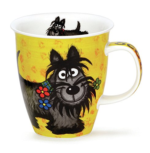 Colourful Highland Gang Scottie Dog Dunoon Fine Bone China Mug Nevis ()