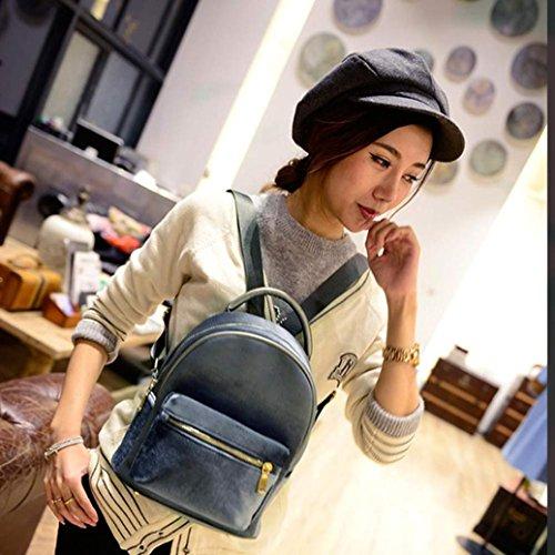 oro de moda libro mujeres escolares hombro terciopelo de Las pequeño zarupeng de Gris mochila mochila 7WwXqI4