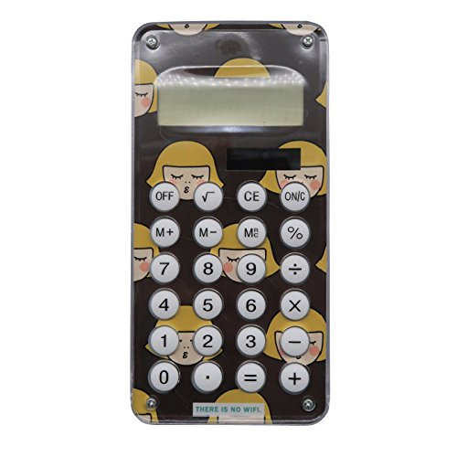 Cute Cartoon Solar Portable Calculator Mini Portable Student With Maze Game