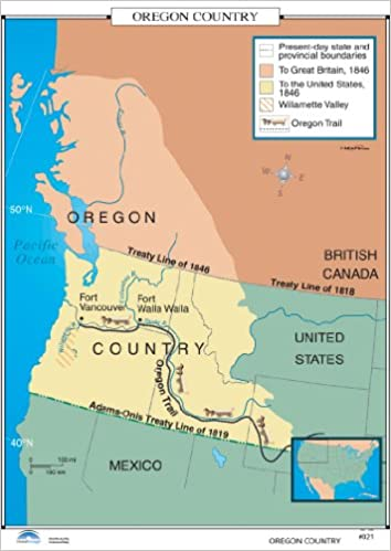 Oregon Trail On Us Map.Amazon In Buy Oregon Country U S History Wall Maps Book Online