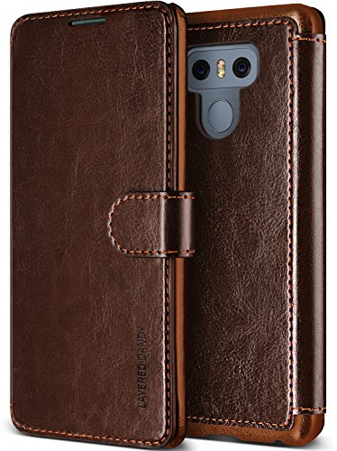 LG G6 Case, (Savant - Chocolate Brown) (Wallet Card Storage) Premium PU Leather Wallet (Slim Portfolio Card Slots) Flip Diary Cover for LG G6 2017 by Lumion