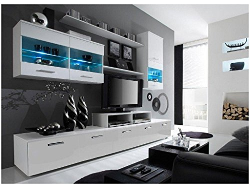 Paris Contemporary Design Wall Unit / Modern Entertainment Center / Unique  Modern Design / With LED Lights / High Storage Capacity / Living Room  Furniture ...