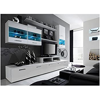 this item contemporary design wall unit modern entertainment center unique led lights high storage capacity living room plans furniture mo