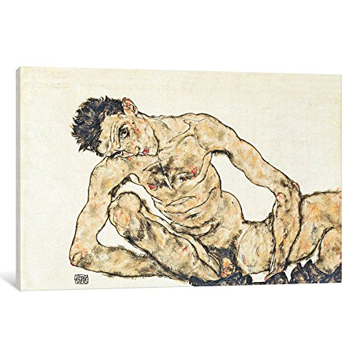 iCanvasART 1-Piece Nude Self-Portrait Canvas Print by Egon Schiele, 0.75 by 18 by (Egon Schiele Self Portrait)