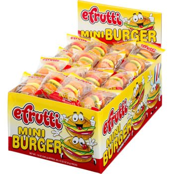 Gummi Mini Burger (Gummi Mini Cheeseburger) Wrapped - Gummy 60 Count