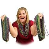 Assorted Mardi Gras Beads 144 count