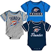 Oklahoma City Thunder Newborn Team Color Alternate Gray 3 Piece Creeper Set (0/3 Months)