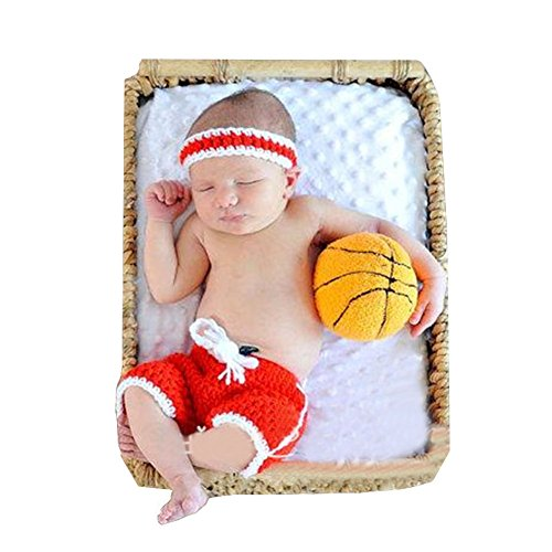 CX-Queen Baby Photography Prop Costume Crochet Knitted Basketball (Baby Basketball Halloween Costume)