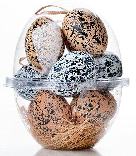 Hill Ornament - Celebrate the Home Spatter Hens Plastic Egg Set, Speckled, Set of 12