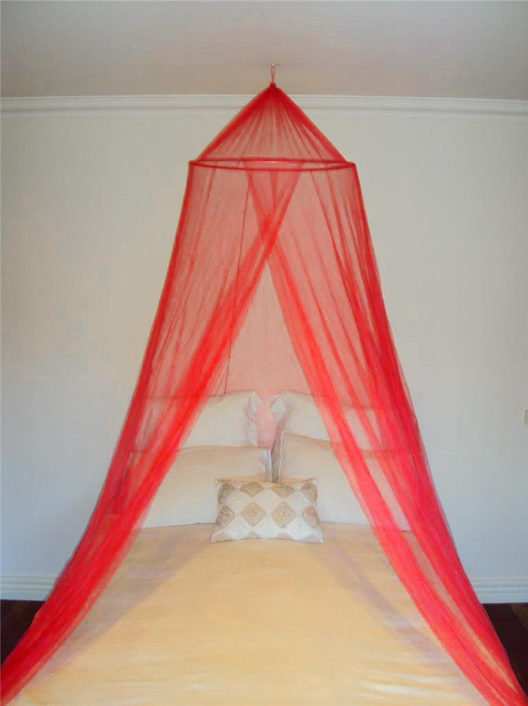 Single Entry Mosquito Net Romantic Bed Canopy Fly Midges Insect Protection A-Express